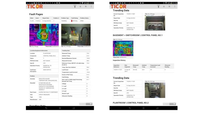 TICOR compleate inspection reports onsite
