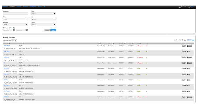 WEBCOR Manage inspections